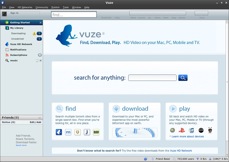 Install latest Vuze BitTorrent Client - A Torrent Search App on ...