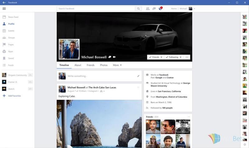 facebook windows store - 2