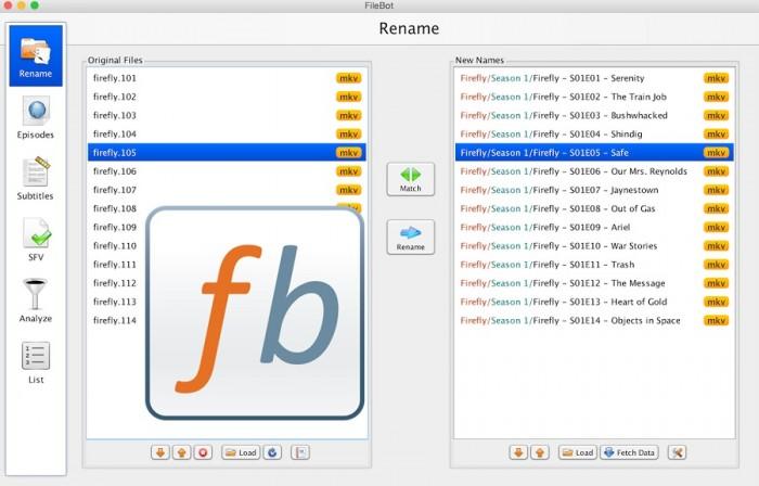 filebot Ultimate TV and Movie Renamer Subtitle Downloader