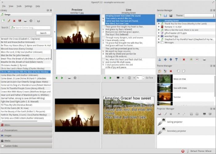 openlp church presentation software