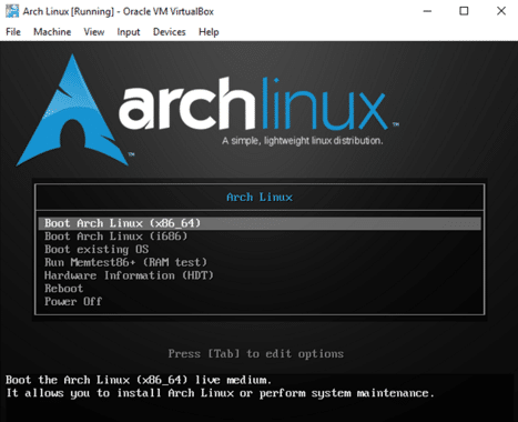 How to install arch Linux 6